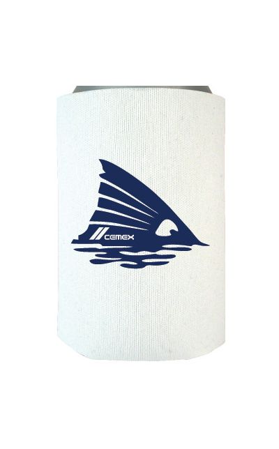WHITE WITH NAVY IMPRINT